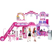 Barbie Malibu Ave 2-Story Mall with 2 Dolls
