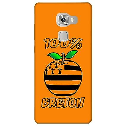 Carcasa Huawei Mate S - 100% Breton naranja: Amazon.es ...