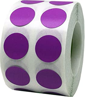 Lilac Color Coding Labels Round Circle Dots 1 2 Inch 1000 Total Adhesive Stickers
