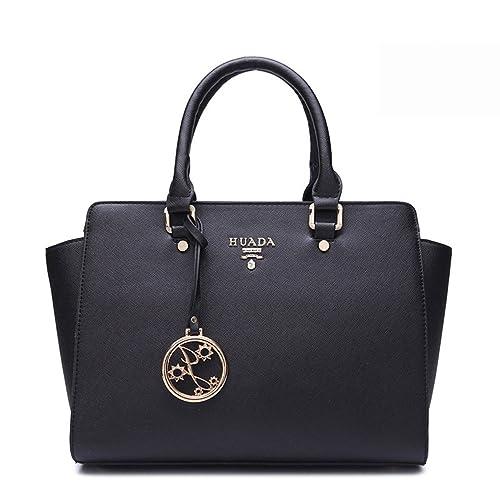 bdadd04e72 Yacn Ladies Designer Genuine Leather top handle handbags Shoulder Bag Tote  for women with shoulder straps