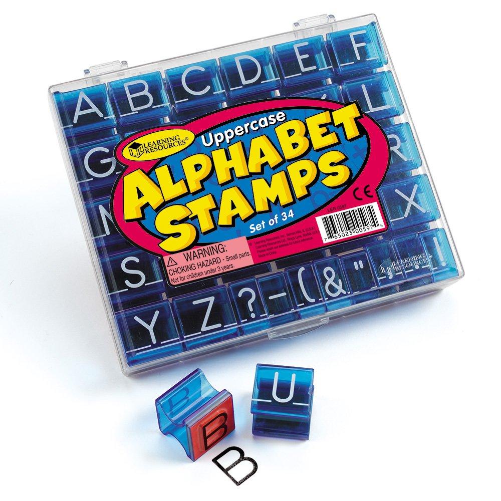 LER0597 Colore Learning Resources Timbri con Lettere dell/'Alfabeto maiuscole