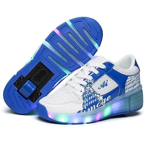 ❤❤❤ Unisex Recargable Led Luz Automática de Skate Zapatillas con Ruedas Zapatos Patines Deportes Zapatos para Niños Niñas ❤❤❤: Amazon.es: Zapatos y ...