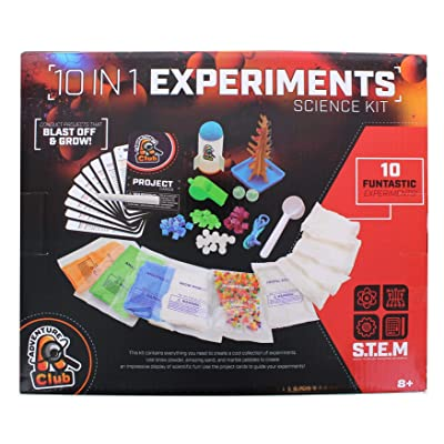 ADVENTURE CLUB 10 in 1 Experiments Science Kit, Multicolor: Toys & Games