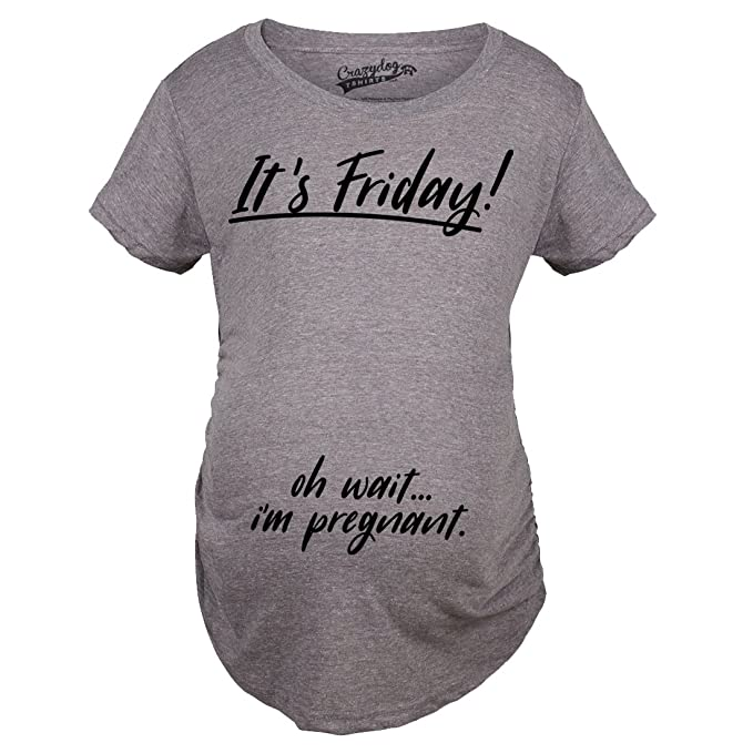 Maternity Its Friday Oh Wait Cute Baby Announcement T Shirt Pregnant Tee