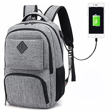 Hotchy Mochila para portátiles, Mochila para Ordenador portatil 15.6 Pulgadas USB Mochila de Portátil Bolso Impermeable Bolsa Viajes para Colegio Viaje ...