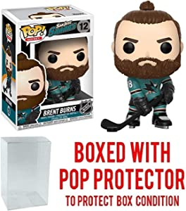 Funko POP! Sports NHL San Jose Sharks Brent Burns Action Figure (Bundled with Pop Box Protector to Protect Display Box)
