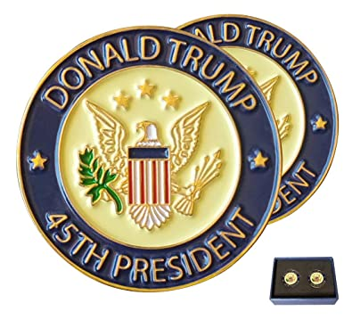 Donald Trump 45th President Pin de Solapa TAC, Trump Pin con Caja ...