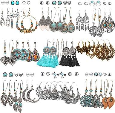 Handmade Costume Jewelry Drop Earrings Lot of 10 Pair