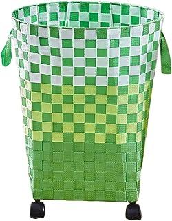 ZHAOSHUNLI cesti per la Biancheria Cestello portabiancheria con Ruote Portaoggetti in plastica (Color : Square)