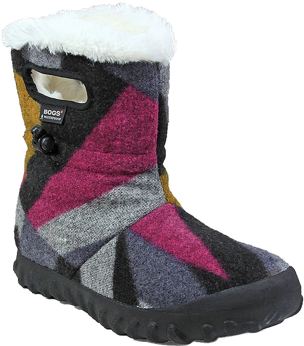 Bogs Women's Bmoc Wool Snow Boot, Dark Gray/Gold, 6 M US