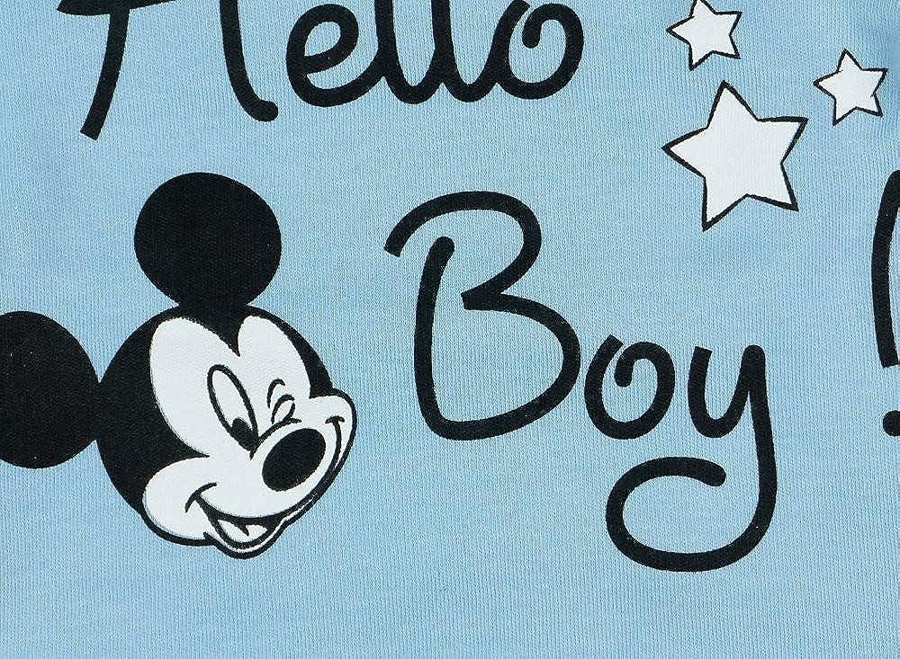 Hose und M/ütze Disney Baby Mickey Mouse Jungen 3teiler Set mit Ohren-M/ütze in Gr/ö/ße 56 62 68 74 80 86 Body unterschiedliche Modelle Baumwolle