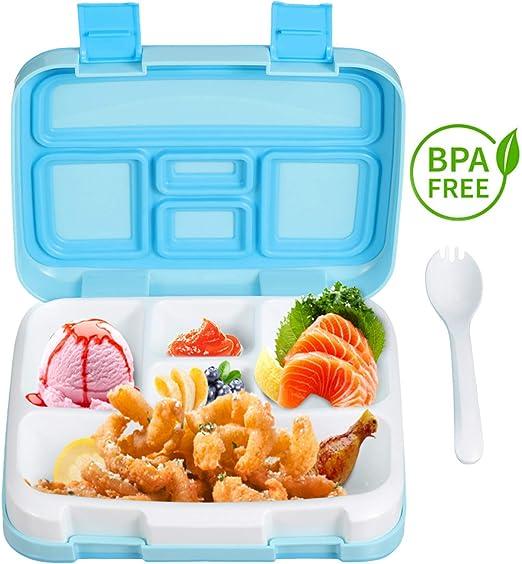 Lonchera para niños Fiambreras , Caja de Almuerzo con 5 ...