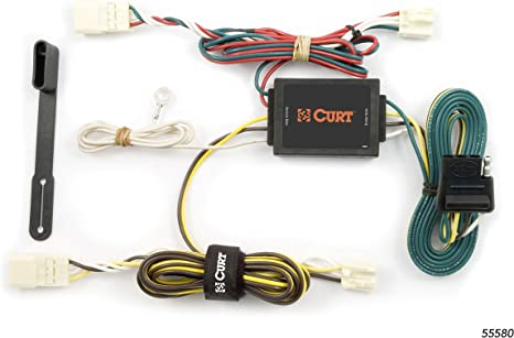 CURT 56261 Vehicle-Side Custom 4-Pin Trailer Wiring Harness for Select Toyota Sienna