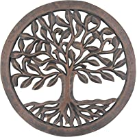 DharmaObjects Handcrafted Wooden Tree of Life Wall Decor Hanging Art