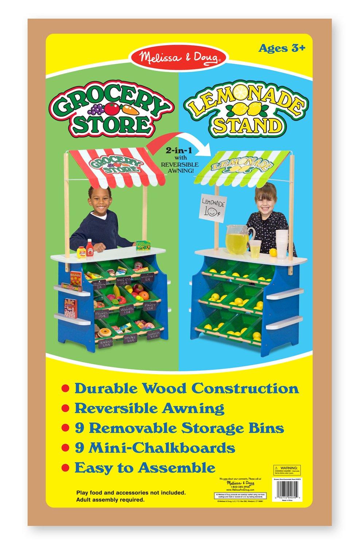 Amazon Melissa Doug Wooden Grocery Store And Lemonade Stand