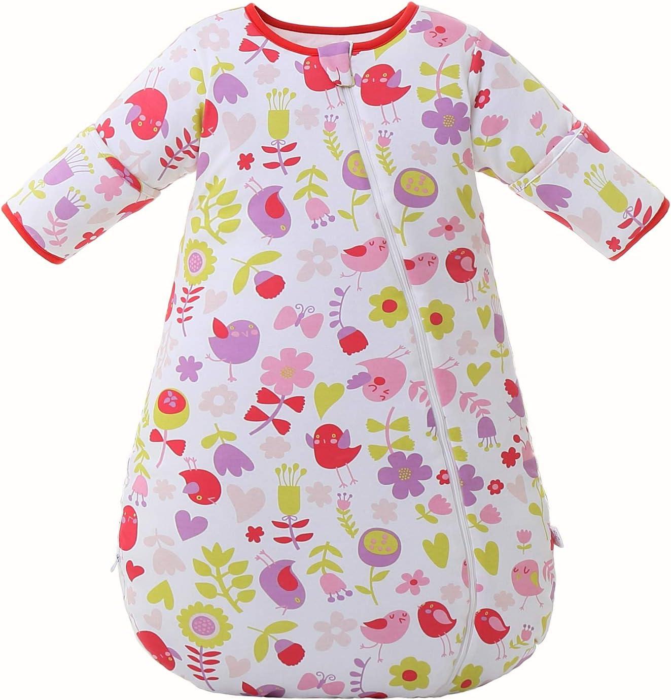 Baby Sleeping Bag Long Sleeves Winter 2.5-3.5Tog 100/% Organic Cotton Sleeping Bag L :30-36in//15-30 Months