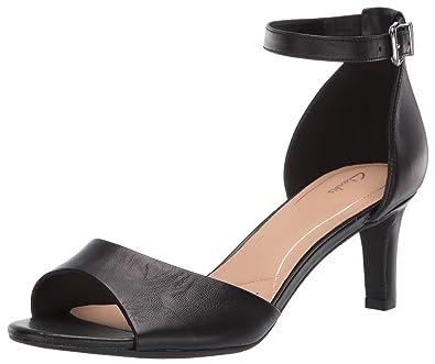 f4401b99b0fd CLARKS Women s Laureti Grace Heeled Sandal Black Leather 050 ...
