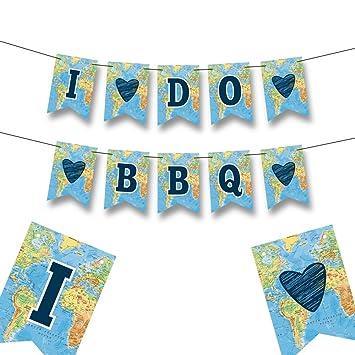 i do bbq banner bridal shower decorations engagement party decorations bachelorette party banner