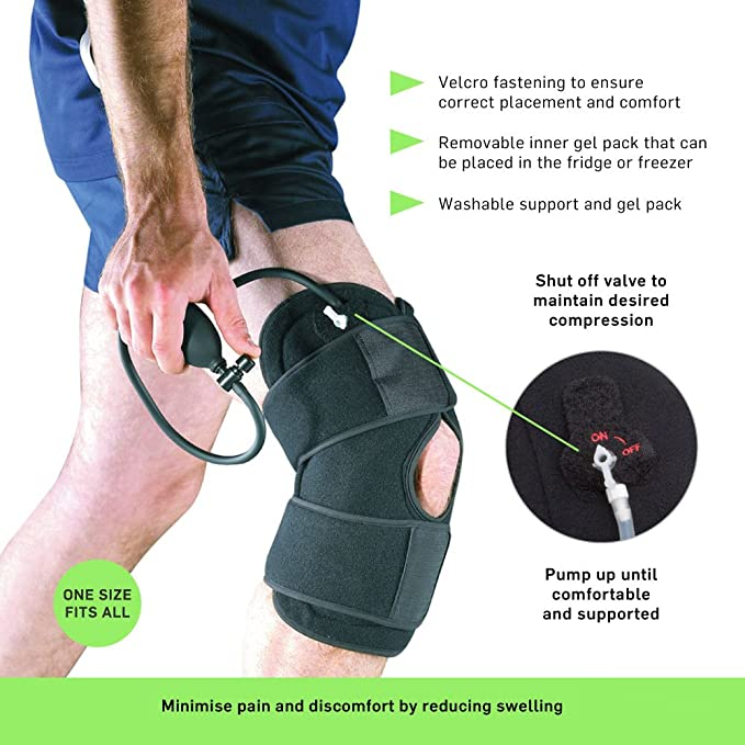 2bae59974a Knee Cold Compression Cuff - Cryo Therapy Inury Ice Pack Rehabilitation  Swelling: Amazon.co.uk: Sports & Outdoors