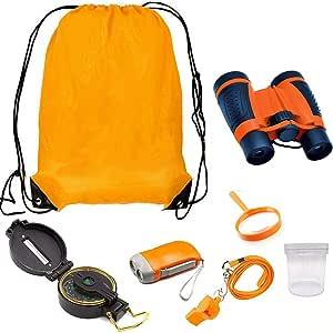 amazon com xiaocai outdoor explorer kit with binoculars
