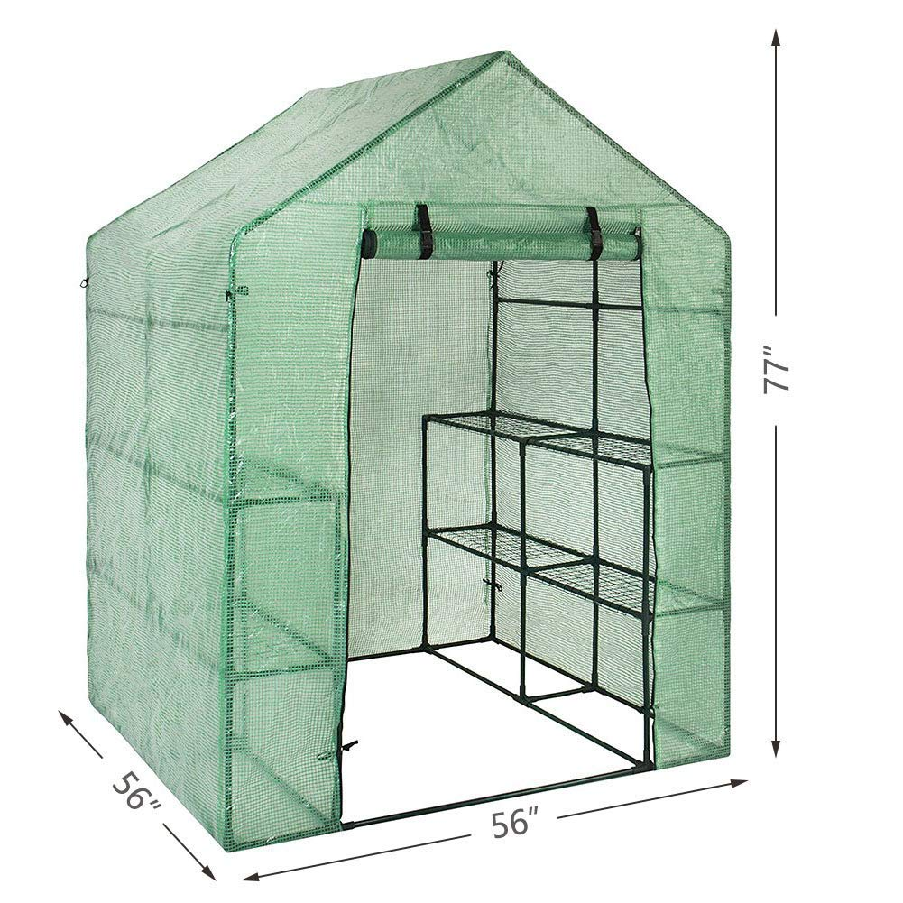 56x56x77 Large Walk-in Plant Greenhouse Garden Green House for Outdoor Indoor Use