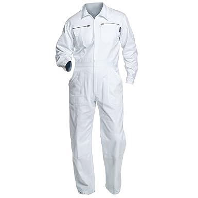 cc7cd54f99f705 Charlie Barato® Maleroverall - waschfester Overall, robuster Arbeitsanzug  weiß (46)