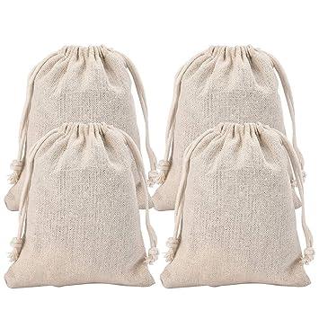 Irich - Bolsas de algodón con cordón (8 x 10 cm): Amazon.es ...