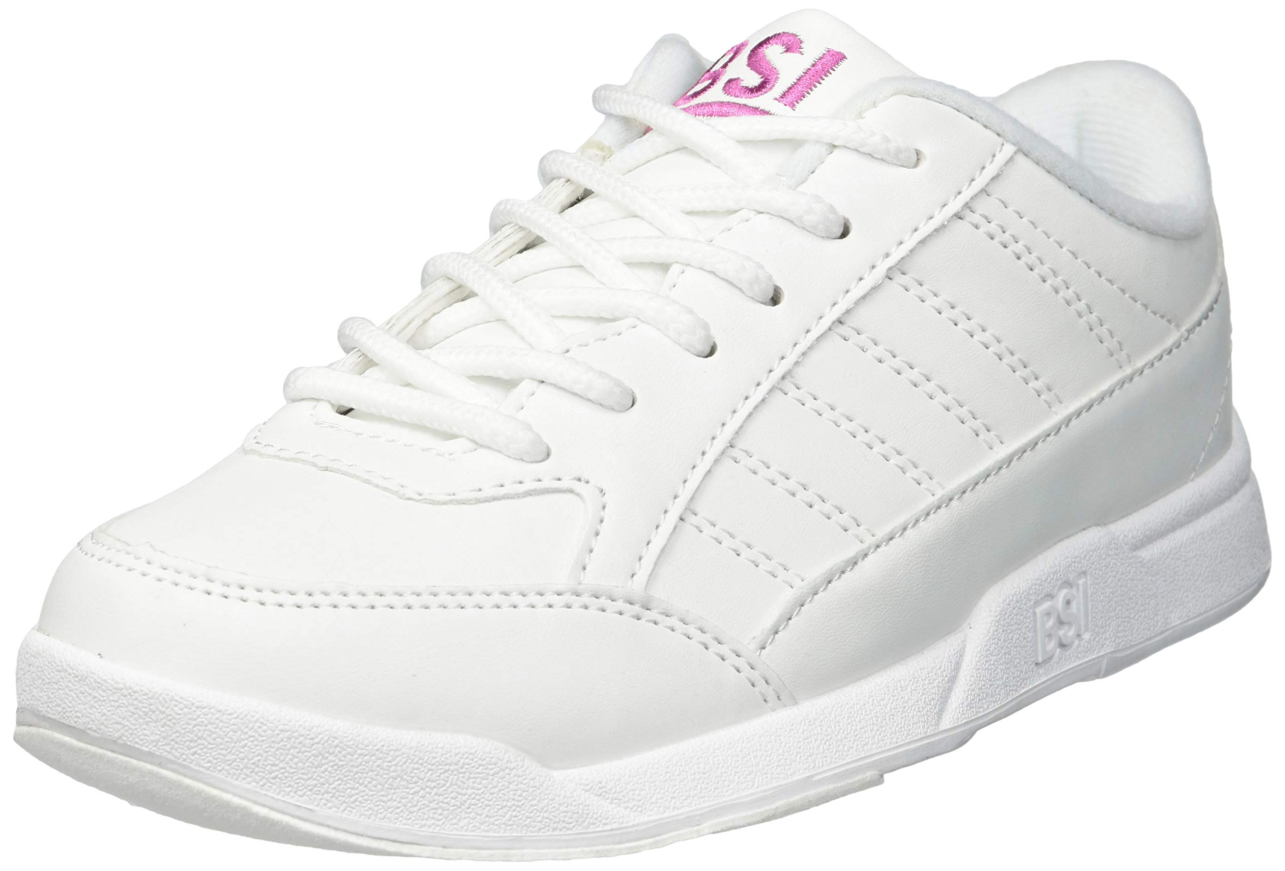 BSI Girl's Basic #432 Bowling Shoes, White, Size 1.0 by BSI