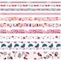 Toyvian 10 Rolls Washi Tape Set DIY Japanese Washi Masking Decorative Tapes Scrapbooking Tape Gift Wrapping Tape for Arts, DIY Crafts,Planners Scrapbooking Party Supplies (Tree)