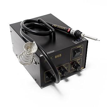 Aoyue int868SMD 0IRHP100A-03Station Estación de soldadura de aire caliente con membrana