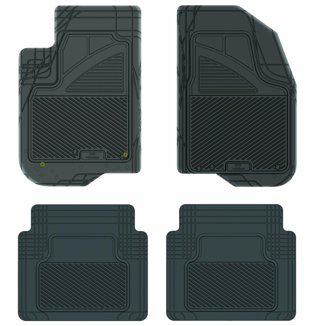 17214 Koolatron Pants Saver Custom Fit 4 Piece All Weather Car Mat for Select Pontiac G6 Models Black