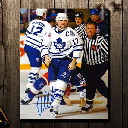 Signed Wendel Clark Photograph - WARRIOR 16x20 - Autographed NHL Photos b4ced52b7d87