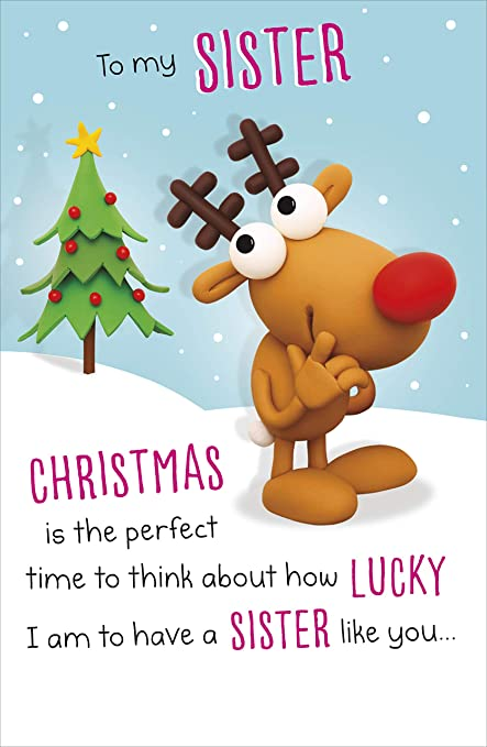 Hanson 616421 - Tarjeta de felicitación navideña, diseño con ...