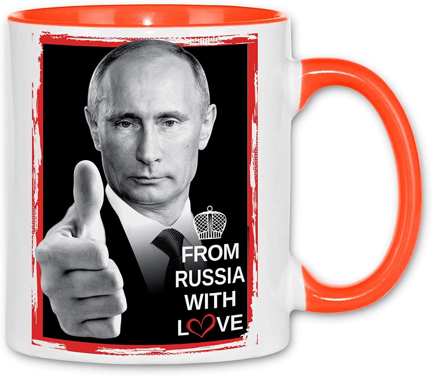 Russia President Moscow Farbe Royal Shirt rs48 Mug from Russia with Love Tassen :White
