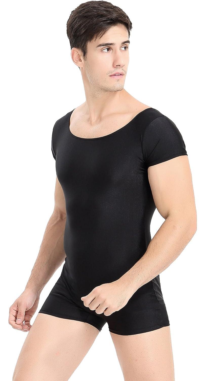 Speerise Mens Lycra Spandex Bodysuit Workout Dance Biketard Unitard