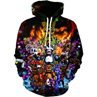 Unisex Five Nights At Freddy'S Hoodie Youth Pullover Sweatshirt For Boys And Girls