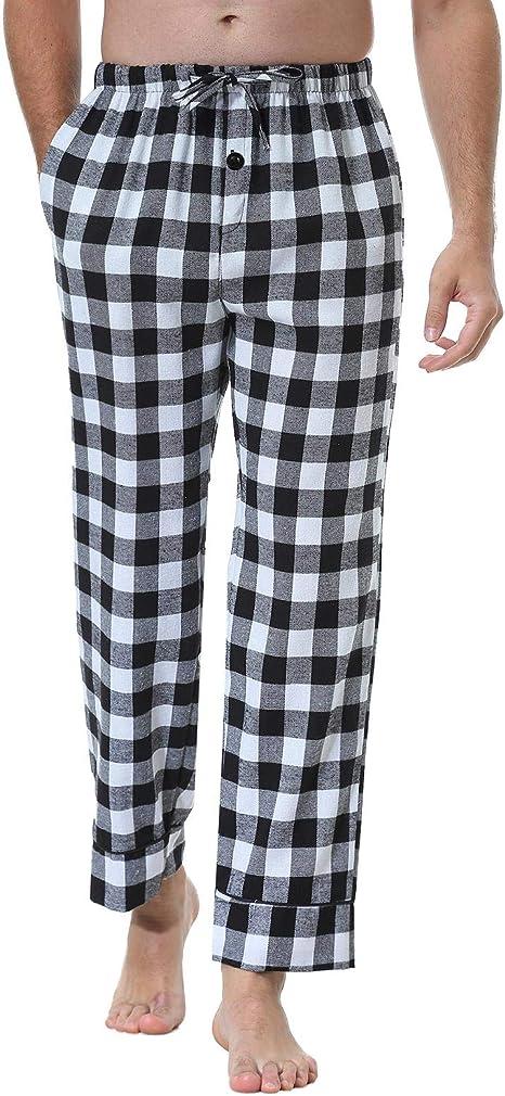 Abollria Pantalones De Pijama A Cuadros Para Hombre Lounge Wear Pijama Pantalones De Bottoms Negro S Amazon Es Ropa Y Accesorios