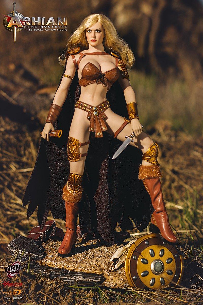 Phicen Arhian Head Huntress 1//6 Scale Super Flexible Female Seamless Body PL2016-85