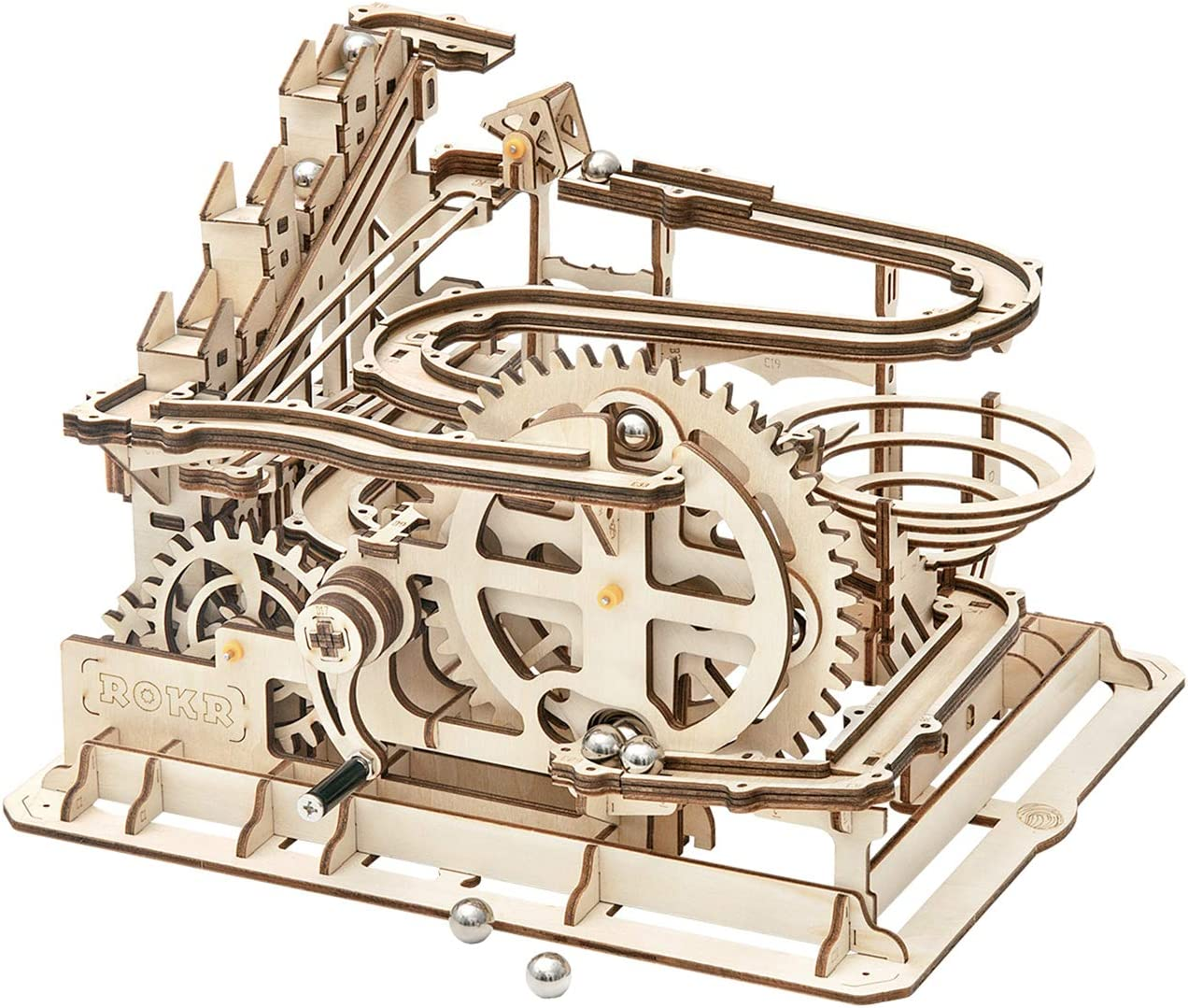 Amazon Com Rowood 3d Wooden Marble Run Puzzle Craft Toy Gift For Adults Teen Boys Girls Age 14 Diy Model Building Kits Waterwheel Coaster Toys Games