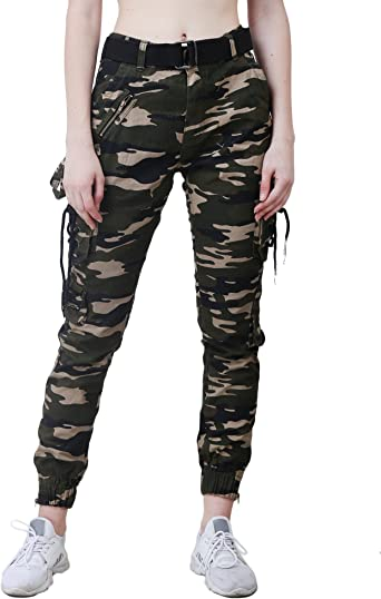 EditLook Women's Cargo Girls' Pants at amazon