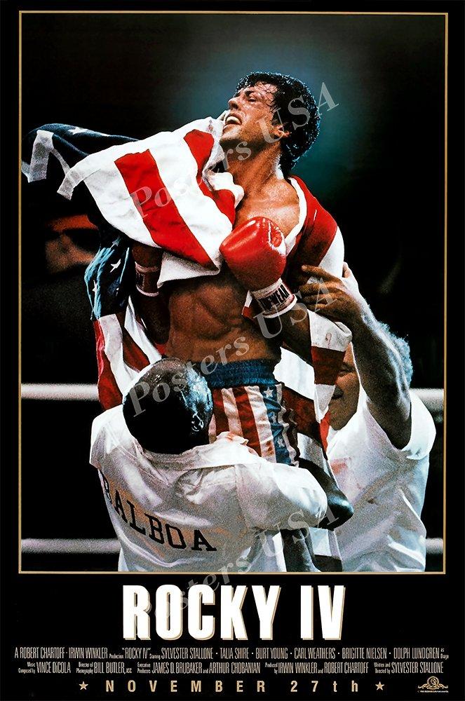 "Posters USA Rocky IV 4 Movie Poster GLOSSY FINISH - MOV023 (24"" x 36"" (61cm x 91.5cm))"