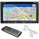 Lanzar SNV695N 6.95-Inch Double-DIN Touchscreen Video DVD/MP4/MP3/CD Player With Hands-Free Bluetooth, GPS w/USA/Canada/Mexico Maps, USB/SD, Aux-In (Discontinued by Manufacturer)