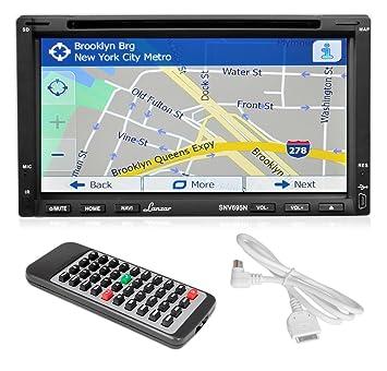 """Lanzar SNV695N - Reproductor multimedia para coches (pantalla táctil de 6.95"""", Bluetooth,"""