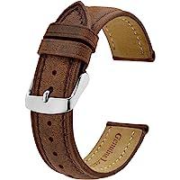 BISONSTRAP Correa de Reloj, Correa Piel de Cuero Vintage, Ancho de Banda: 14mm 15mm 16mm 17mm 18mm 19mm 20mm 21mm 22mm…