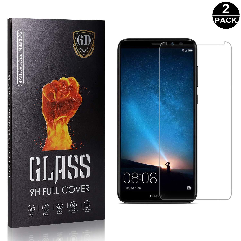 9H Hardness Tempered Glass Screen Protector Film for Huawei Mate 10 Lite 2 Pack Bear Village Screen Protector for Huawei Mate 10 Lite Easy Installation Anti Fingerprint