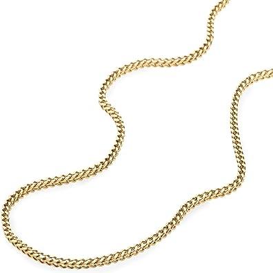 10K Yellow Gold 2MM, 3MM Franco Square Box Link Chain Necklace - Italian Design