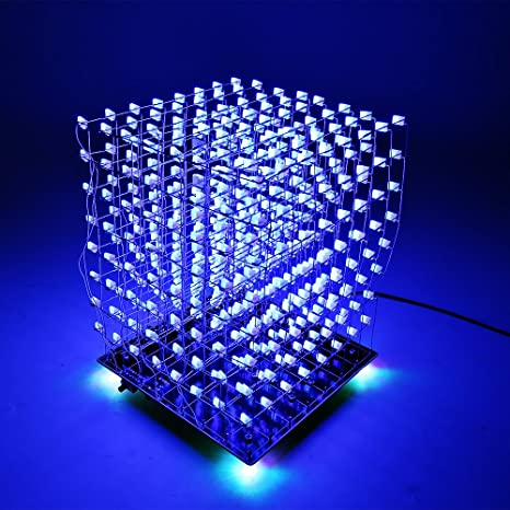 Audio & Video Replacement Parts 3d 8x8x8 Square Diy Led Blue Light Cube Kit Mp3 Music Spectrum Light Cube Circuits