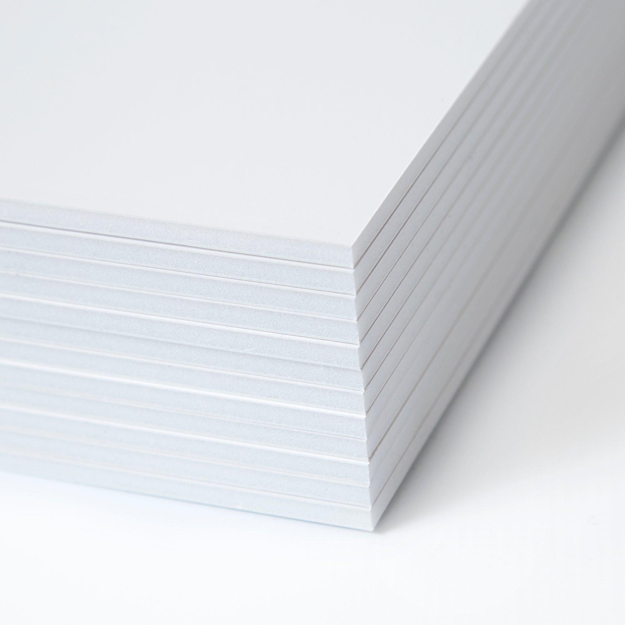 Foam Core Board Multi Pack - Foam Poster Board - Foam Core Project Board - Foam Boards - 11x14 Sign Boards Pack of 12 - White Foam Board - Large Foam Board - Extruded Polystyrene - Foamcore Sheets