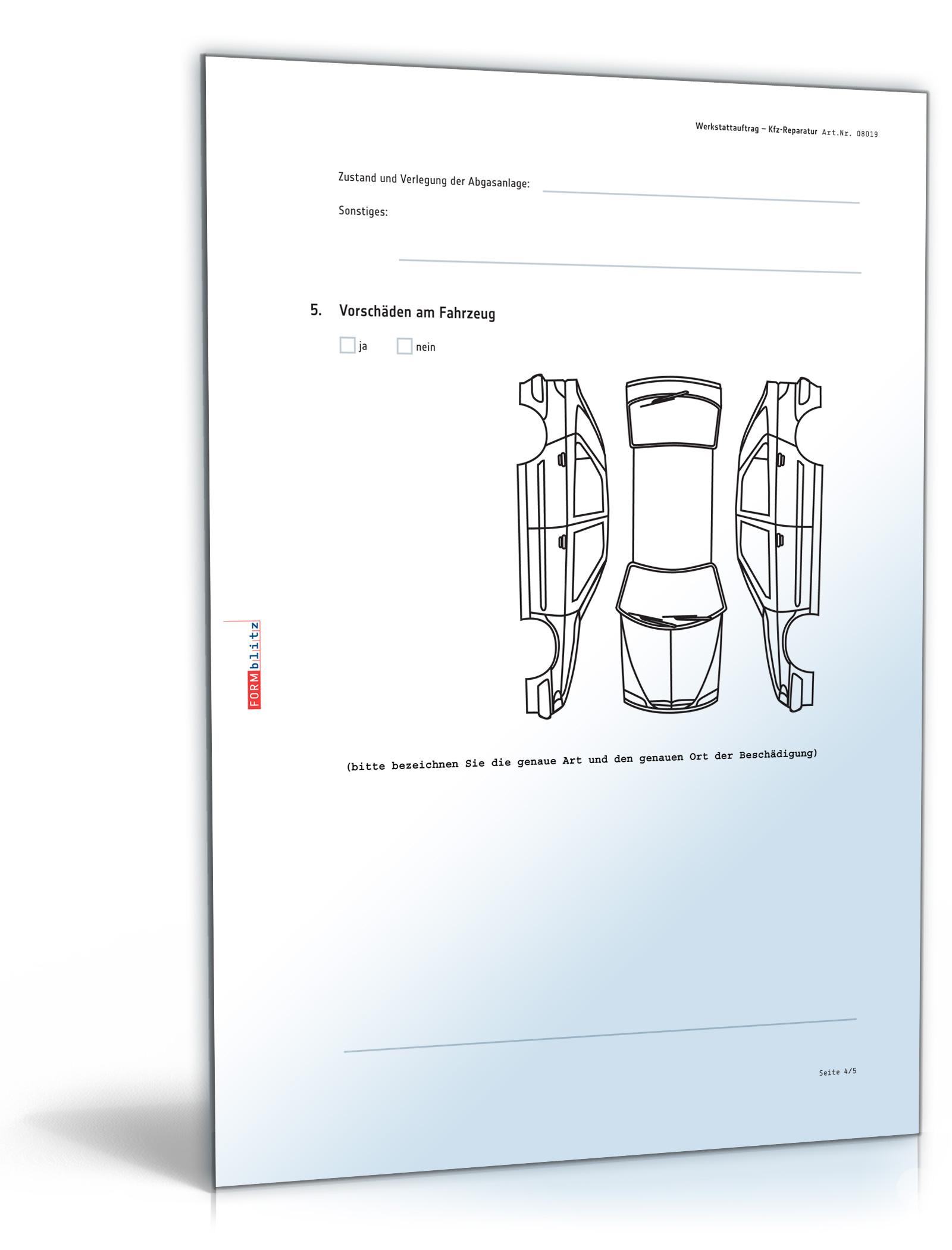 Werkstattauftrag Kfz Reparatur Download Amazonde Software