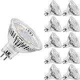 LE Ampoules LED GU5.3 3.5W (=35W ampoule halogène) MR16, 280lm, 5000K Lumière du jour, 12V DC/AC, Lot de 10 unités